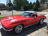 1963 Chevrolet Corvette Roadster US$49000 or CDN$60000