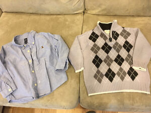 Boys sweater, button down and hoodies size 3