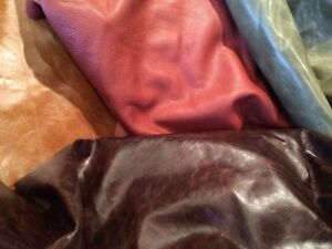 Leather remnants and swatches.