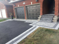 Landscaping.. Natural stone.. Steps .. Brick.  Amrour Stone .  D