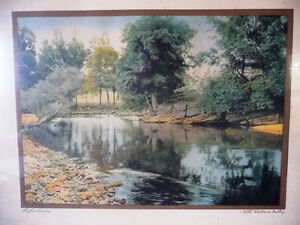 """Antique Colored Photo After Wallace Nutting """"Reflections"""" 1920's Stratford Kitchener Area image 2"""