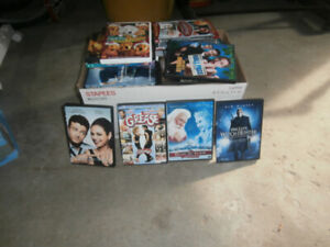 Box full of DVD movies