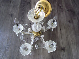 5-Light Crystal Chandelier in Gold