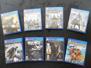 Lot de 8 jeux PS4 impeccables