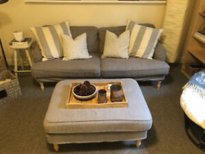 Stylish Sofa and ottoman - in MINT condition!