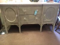 Shabby Chic Mahogany Sideboard - Annie Sloan - CAN DELIVER