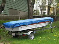 14 Foot Boat, 25 HP Motor andTrailer for sale