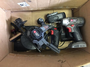 PORTER CABLE CORDLESS CIRCULAR SAW AND DRILL