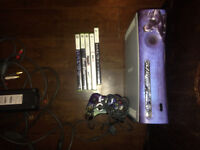 Halo Xbox 360 with controller and games