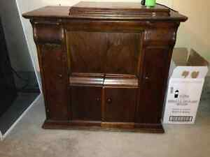 Antique cabinet with neat drawers -great for storage