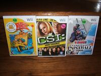 3 cassettes pour Wii / 3 games Laval / North Shore Greater Montréal Preview