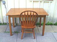 excellent Maple desk and chair-refinished