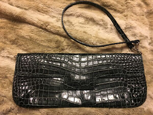 Clutch Bag Leather Made in Italy Brand New never used