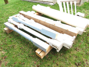 turned wooden posts
