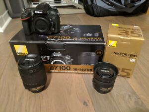 Nikon D7100 With 18-140 VR Kit and 35mm f/1.8