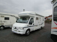 Autosleeper Palermo six berth motorhome with rear fixed bed and separate shower,
