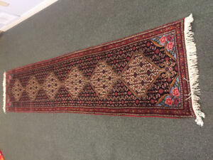 Carpet- Vintage Oriental runner     8x2 feet