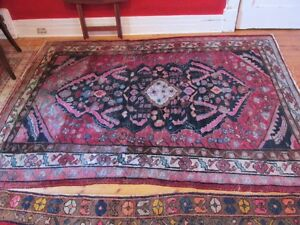 PERSIAN-REDUCED-REAL HANDKNOTTED 100%WOOL CARPET-5'X6' $120.FIRM