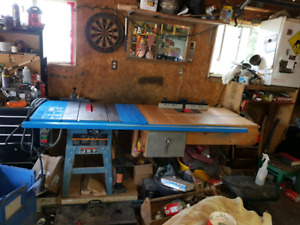 Table saw, router,and wood lathe