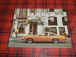 BROCHURE AUTO BUICK APOLLO ( 1975 )