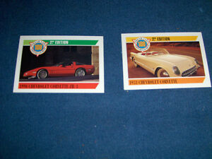 2 CORVETTE STING RAY CARDS-1992 PANINI-DREAM CARS SERIES