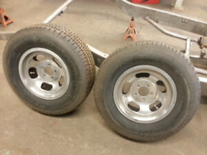 Pair of vintage 15x7 Slot Mags 5x4.5 bolt pattern