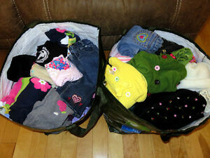 2 Costco bags stuffed full 4T girls clothes - Mostly Gymboree!