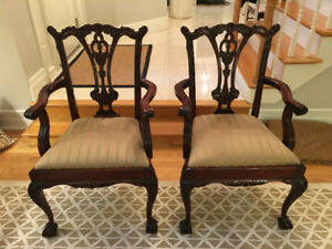 Set of 2 high-quality Antique Reproduction Chairs