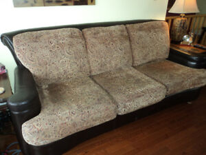 Leather/Fabric Couch