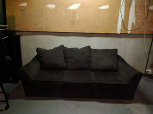 Brown couches (3 seater and 2 seater)