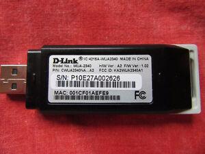 D-Link WUA-2340 RangeBooster G USB Adapter