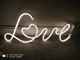 Next Light up LOVE sign