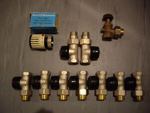 Thermostatic valve for hot water heating