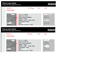 ***DRAKE TICKETS FOR TONIGHTS SHOW. 2x Section114 Row13***
