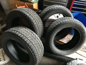Set of 4 Bridgestone Blizzak 275/55/20