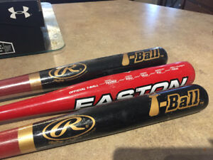 T-Ball baseball bats and glove