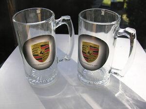 2 Porsche 16oz Beer Steins