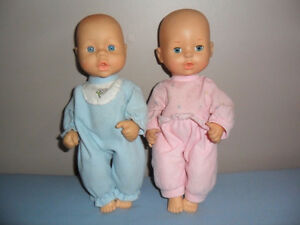 twin baby dolls 11 inches tall
