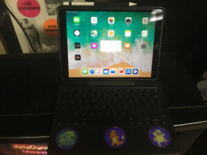 iPad Pro 10.5, 256 GB, with keyboard case and Apple Pencil