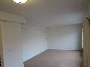 Oak Bay, 1 BR corner suite with partly ocean view balcony in 55+
