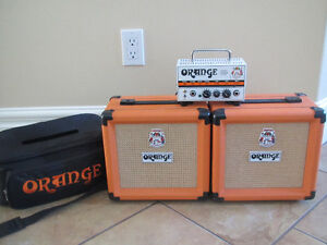 Orange Micro Terror 20 Watt Mini Head ans 2 speakers plus case.