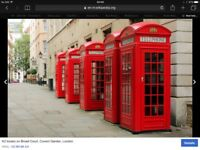 Wanted old red k2 phone box