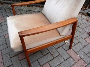 Teak chair. R Huber teak chair, Mid century modern Teak chair London Ontario image 6