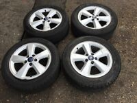 Ford Focus 5 spoke &stud Alloy wheels and tyres