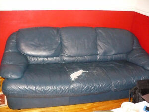 free leather couch and chair