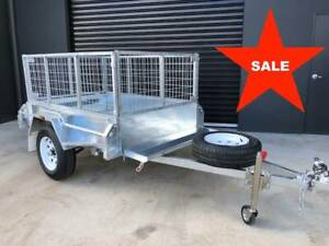 6x4 Galvanised Trailer Fully Welded with 600mm Cage ATM 750kg Ad