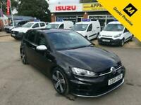 2015 Volkswagen Golf 2.0 R 5 DOOR 298 BHP IN BLACK WITH BLACK INTERIOR WITH ONLY