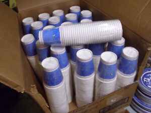 SLEEVE OF 30 PAPER COFFEE TEA CUPS 8 OZ. 1 DOLLAR EACH 25 SLEEVE