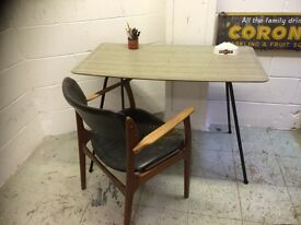 1950s FORMICA TABLE METAL FRAME