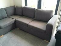 Grey fabric corner sofa bed - LOCAL FREE DELIVERY
